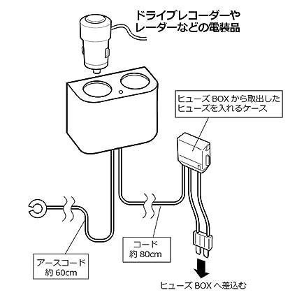 Amazon Com Carmate Japan Ct773 Car 2way Dual Socket Adapter For