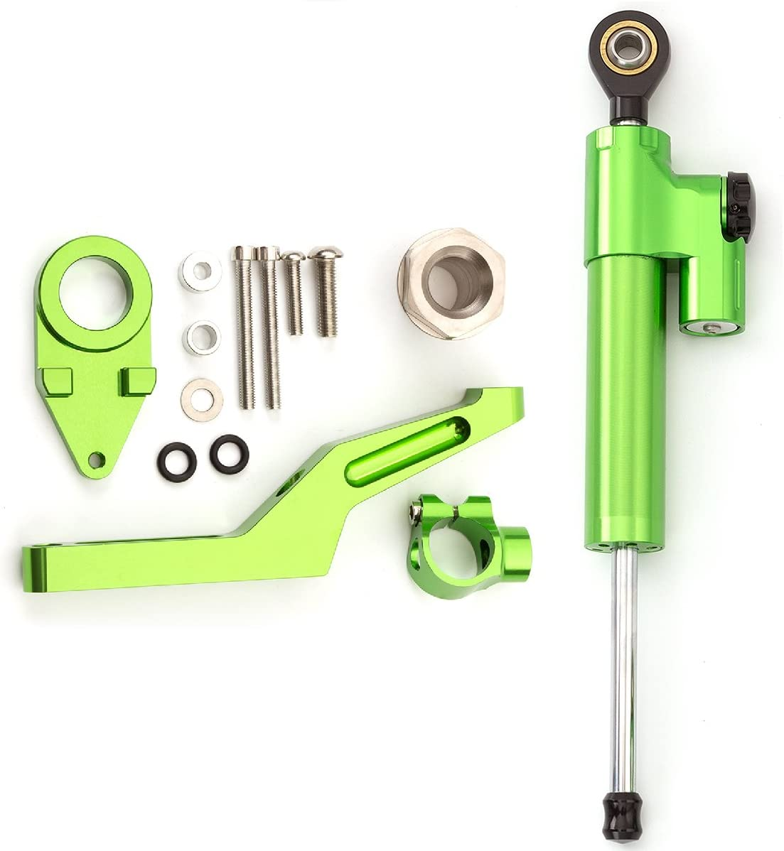 FXCNC Racing Motorcycle CNC Steering Damper Stabilizer Buffer Control Bar With Mounting Bracket Kit Full Set Fit For Kawasaki Ninja 600 ZX636 ZX6R ZX-6R 2009-2019