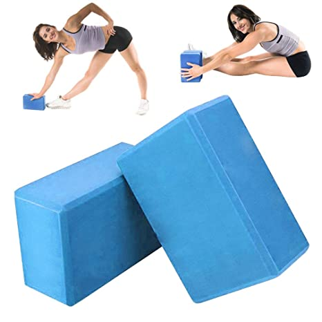 Amazon.com : 2PCS Pilates Yoga Block, EVA Foaming Bricks ...