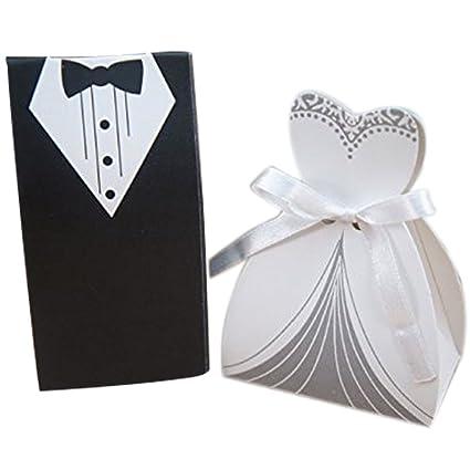 Cajas para confeti para bodas, diseño de vestidos de novios (50 unidades