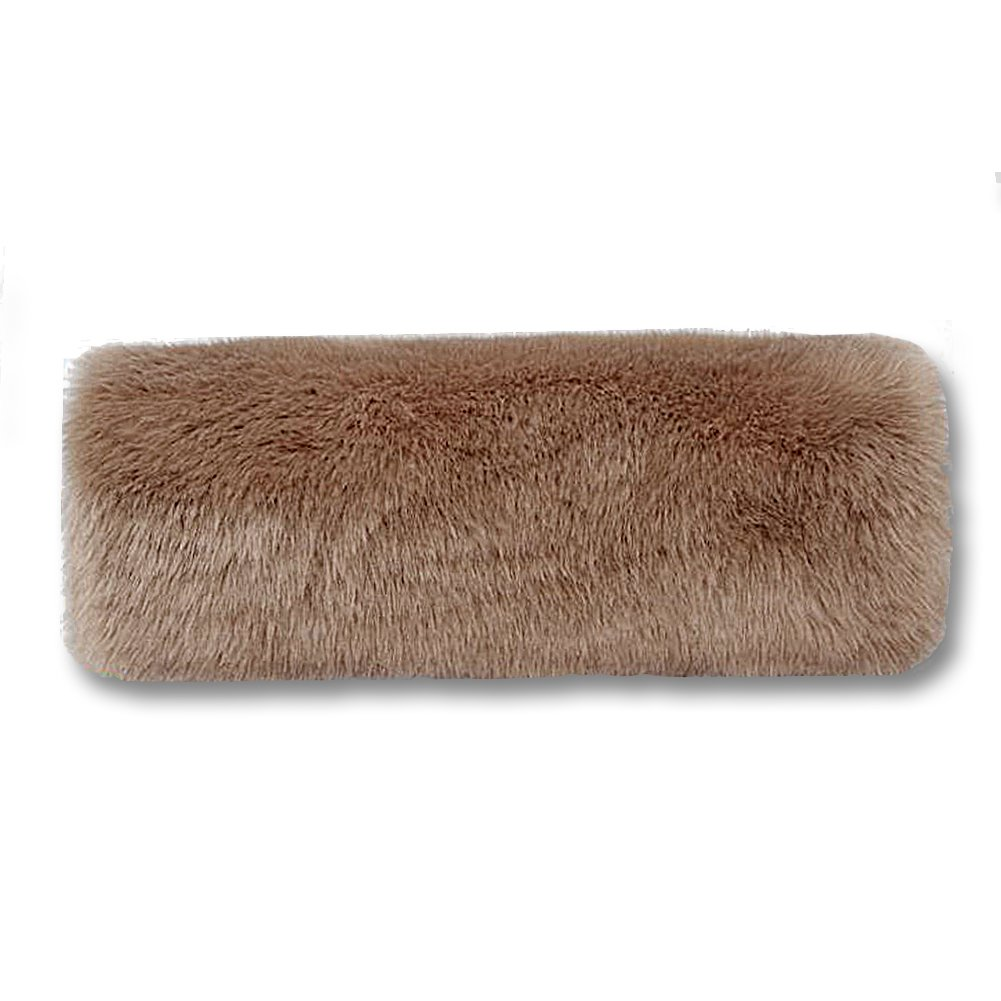 Soft Faux Fur Hand Muffs Women Faux Fur Muffs Hand Warmmers (Black) EQLEF®