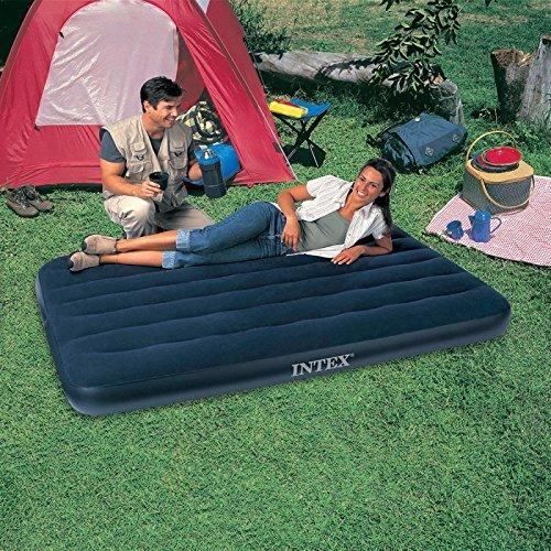 Intex Downy colchón Especial Inflatable, Vinilo, Azul, 190 x 120 x ...