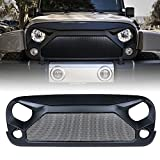 Xprite Jeep Wrangler JK JKU Grill - Gladiator Vader Grille with Mesh for 2007-2018 Jeep Rubicon Sahara Sport