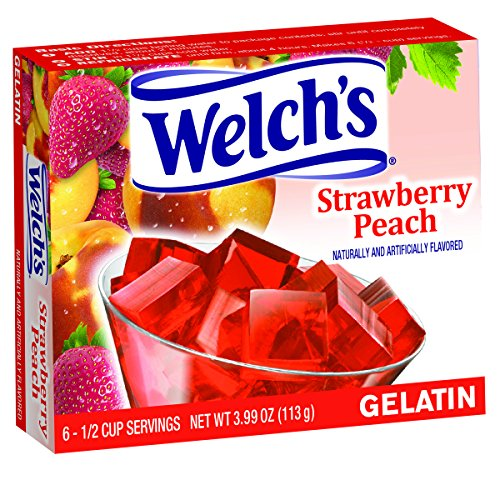 (Welch's Strawberry Peach Gelatin, 3.99 Ounce (Pack of 12))