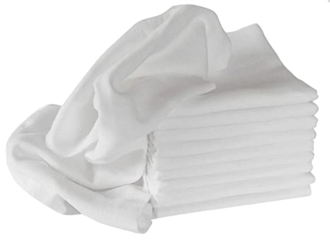 Mull/para Vómitos paños/pañales de tela, 10 unidades, blanco, 80
