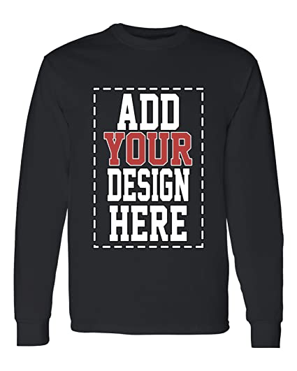 79611ddf847fd Custom Long Sleeve Shirts for Men - Make Your OWN Shirt - Add Your Design  Picture Photo Text Printing