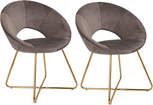 Anmytek Set of 2 Modern Silky Velvet Accent Chairs