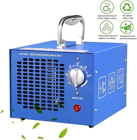 TYQIAO Generador de ozono Profesional,3.5 a 7g / h Temporizador Ajustable generador de ozono purificador de Aire automóvil, Reducir el Olor, Azul: Amazon.es: Hogar