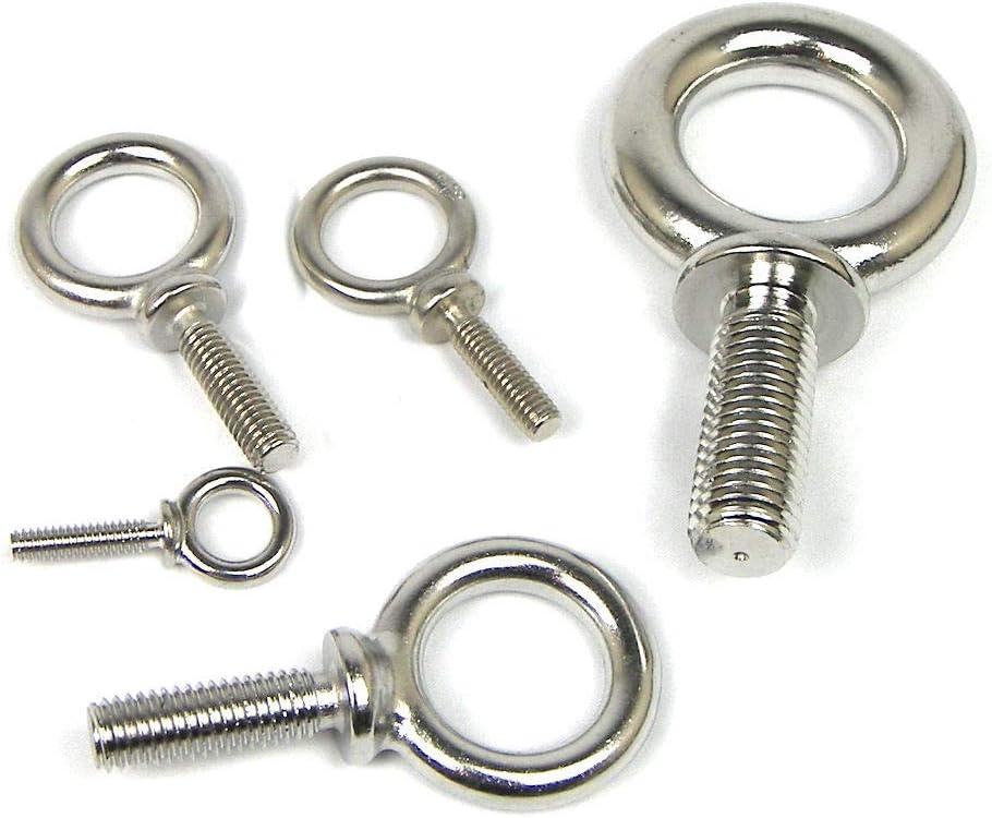 316 Stainless Steel Machine Eye Bolt 5//16 x 1-1//8
