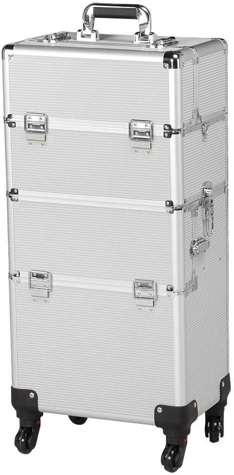 Yaheetech Maletín de Maquillaje Organizador Cosméticos Caja de Belleza Maleta de Maquillaje36 x 24 x 106,5 cm