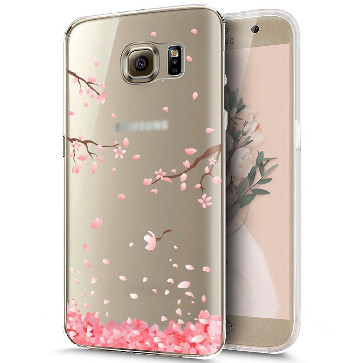 Carcasa TPU para Samsung Galaxy S6 Edge Plus, Funda Samsung Galaxy S6 Edge Plus G928, JAWSEU Ultra Delgado Carcasa para Samsung Galaxy S6 Edge Plus ...