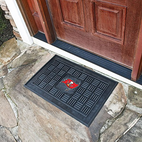 Tampa Bay Buccaneers Official NFL 21 inch x 21 inch Medallion Door Mat by Fanmats 014582 by Fanmats