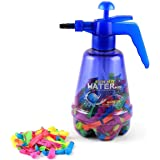 INDIGOCREATIVES Water Balloon Pumping Station with 200 Balloons for Kids, Standard, Multicolour