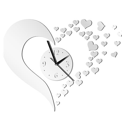 11 opinioni per Gosear® Arte Moderna Fai da Te Amore 3D Forma Circolare Orologio da Parete