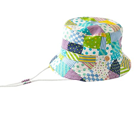 71e3ec5755 TRENDY XU Baby Girls and Boys UV Protection Cotton Hats Summer (18.1 quot (3