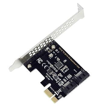 BGNing PCI-E - Adaptador de Tarjeta PCI Express a SATA3.0 (2 ...
