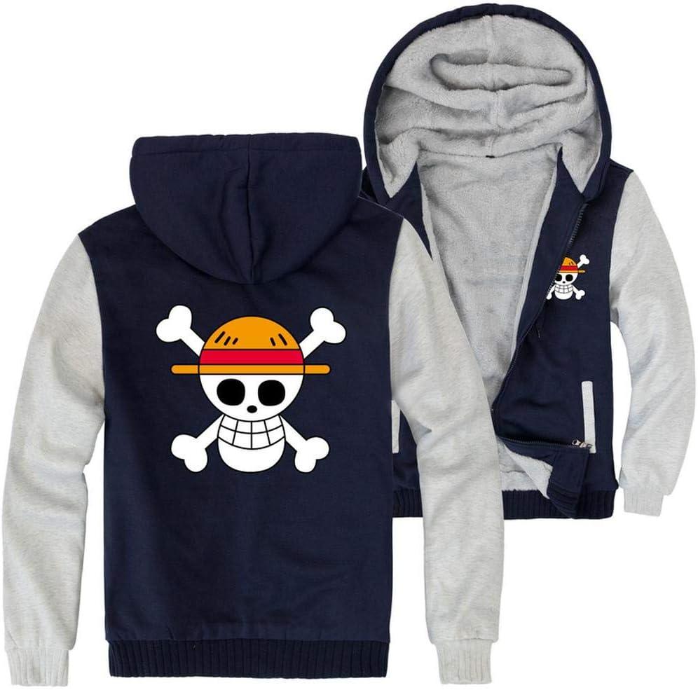 SUSU One Piece Felpe-Pullover Casual Invernale con Cappuccio Warm Zip A Maniche Lunghe Felpa Giacca A-5XL