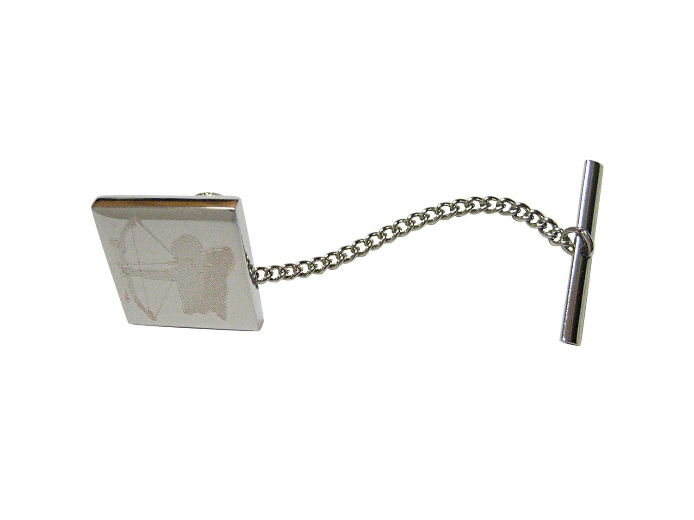Silver Toned Etched Archer Tie Tack Kiola Designs NA