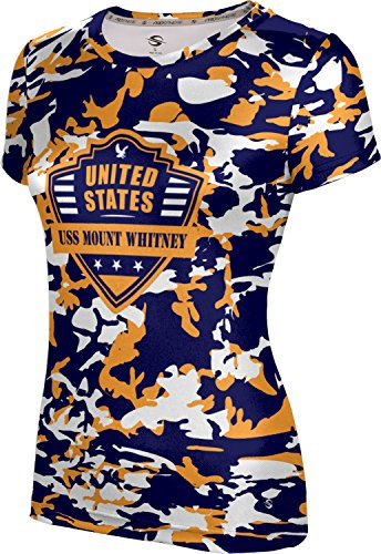 Price comparison product image ProSphere Girls' USS Mount Whitney Military Camo Tech Tee (Medium)