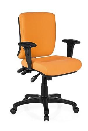 hjh OFFICE Zenit Base Silla de Oficina, Naranja, 45 x 56 x 114