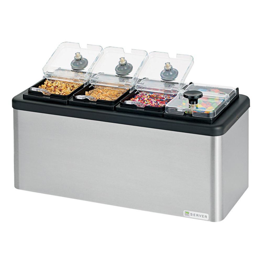 Server 87480 Insulated Mini Station With (4) 1/9-Size Jars