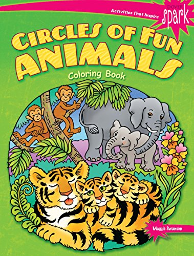 SPARK Circles of Fun Animals Coloring Book (Dover Coloring Books)