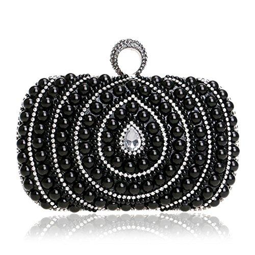 European American Elegant Bags Ladies Black Dinner Pearl Banquet Handbags and Bags European and American Bags Gules pztwrq41p