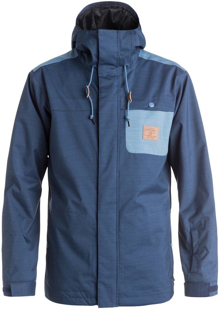 DC Delinquent Men's Skiing Snowboard Jacket - Insignia Blue X-Large
