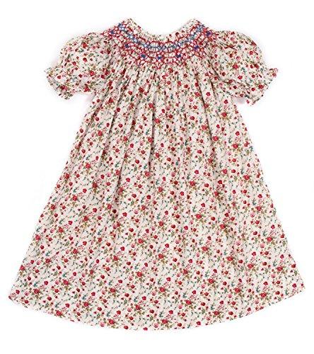 Infant Bishop Dresses (Babeeni Baby Girls Floral Smocked Dress Roses (6M))