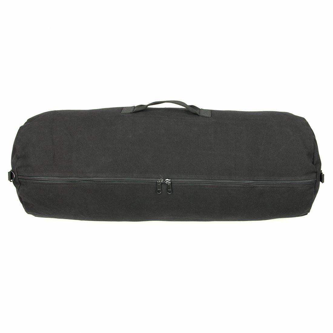 10T Outdoor Equipment RVB Duffle XL - kitbag, travel bag, 215L, Cotton Canvas 625g/m², Ø 47x125 cm, black Saco marinero, 125 215 liters, Negro (Black) 76447