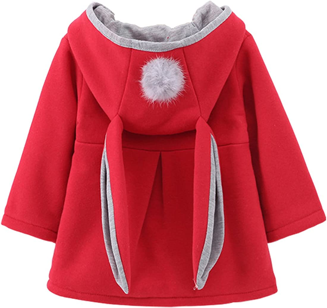 DaDa Deal Little Girls Baby Toddler Kids Winter Ears Coat Jacket Outerwear Hoodie