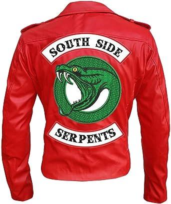 5f09c5e70580 Red Southside Serpent Riverdale Snake Cheryl Blossom Jacket - Biker Style  (XXXL)