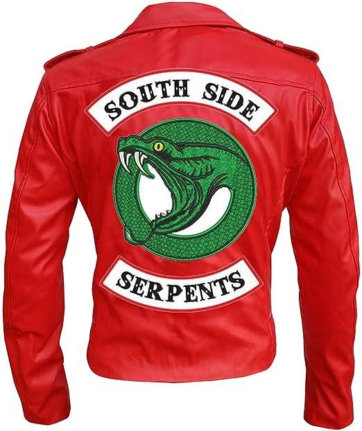 Red Southside Serpents Riverdale Snake Cheryl Blossom Jacket Biker Style