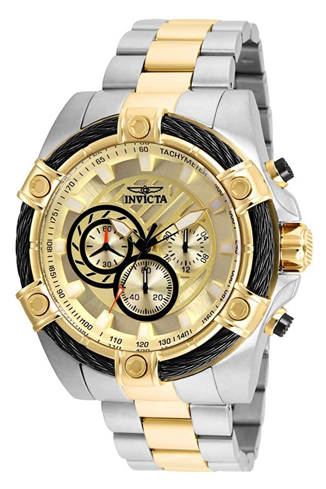 Invicta Men s Bolt Quartz Watch with Stainless-Steel Strap, Two Tone, 26 Model 25518