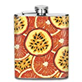 Orange And Passion Fruit Top Shelf Flasks Stainless Steel Hip Flask, 7 Oz, Special Design Bridesmaid Flask