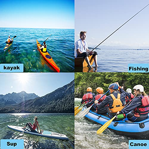 YUNNLEZT Kayak Paddle Leash, 2 Pack Paddle Leash Kayaking, Kayak Leashes for Paddle Board, Stretchable to 59 inch Coiled Rod for Canoe SUP