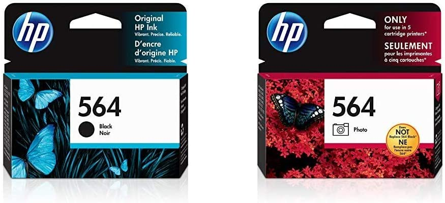 HP 564 | Ink Cartridge | Black | CB316WN & 564 | Ink Cartridge | Photo | CB317WN