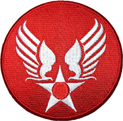- US Air Force Army Military Jacket Vest Star Wing Sew Iron on Logo Emblem Embroidered Badge Sign Costume Patch - Red (US-AIR-FORCE-WING-RED)