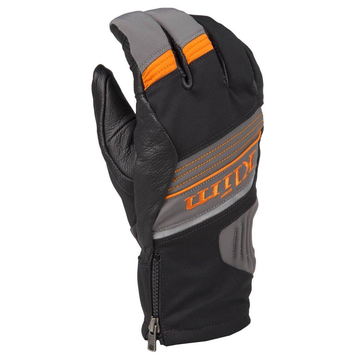 Klim Powerxross Men's Ski Snowmobile Gloves - Dark Gray/Orange / Medium