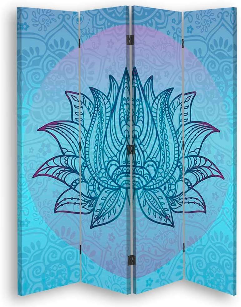carowall CAROWALL.COM Biombo Decorativo Loto 4 Paneles 360 ...