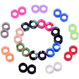 "D&M Jewelry 32/58 Pcs Mixed Colorful Thin Silicone 2g-3/4"" Tunnel Plug Expander Piercing"