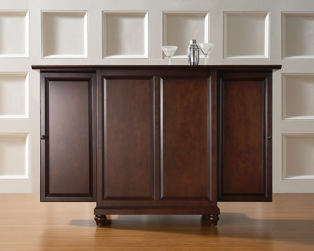 Amazoncom Crosley Furniture Cambridge Expandable Bar Cabinet in
