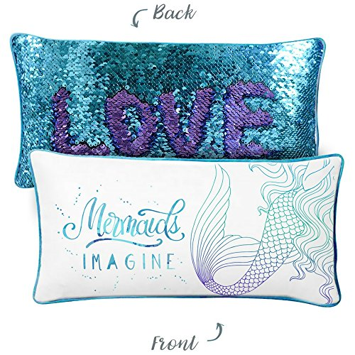 Price comparison product image IMAGINE Mermaid Kids Pillow with Reversible Color-Changing Mermaid Sequins