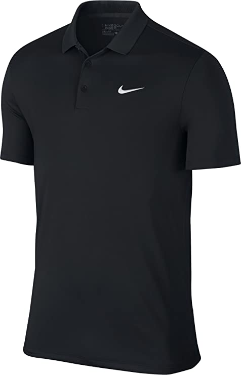 Tamano relativo Observación Espere  Nike Men's Victory Solid Logo Chest Polo Shirt - Black/White, Medium:  Amazon.co.uk: Sports & Outdoors