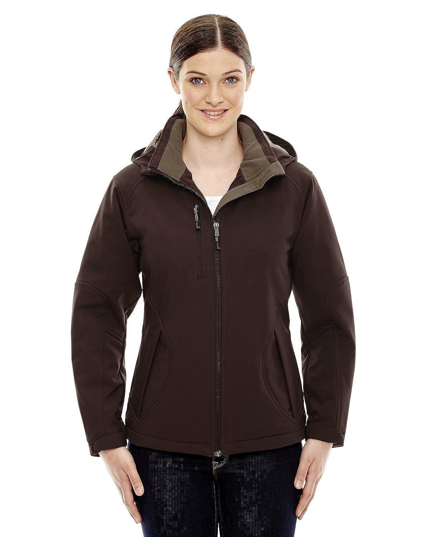 North End Ladies Glacier Insulated Fleece Hood Jacket 78080