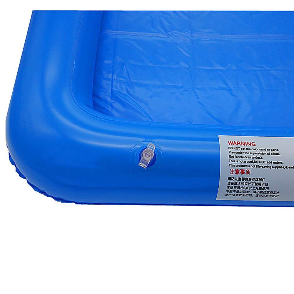 VANKER Inflable grande Castillo Sandbox Sandbox forma de tabla ...
