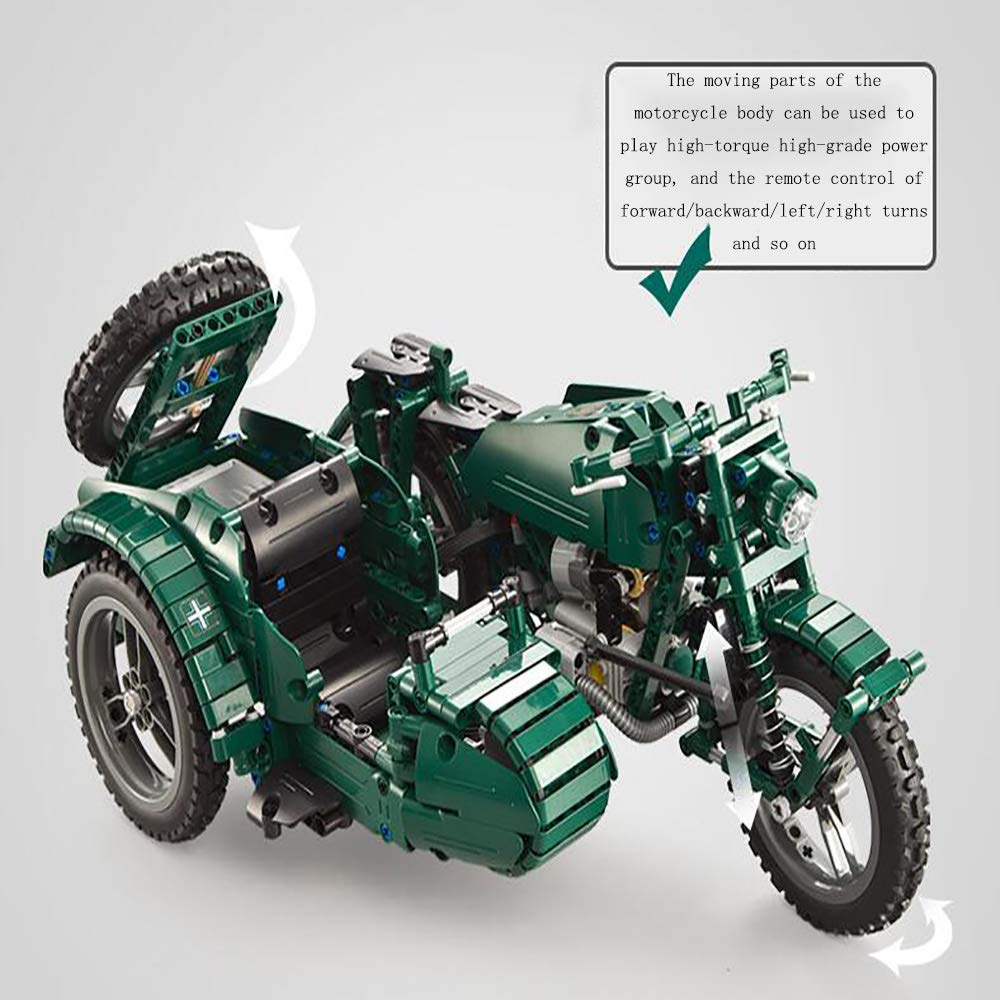 Remote control electric World War II motorcycle building
