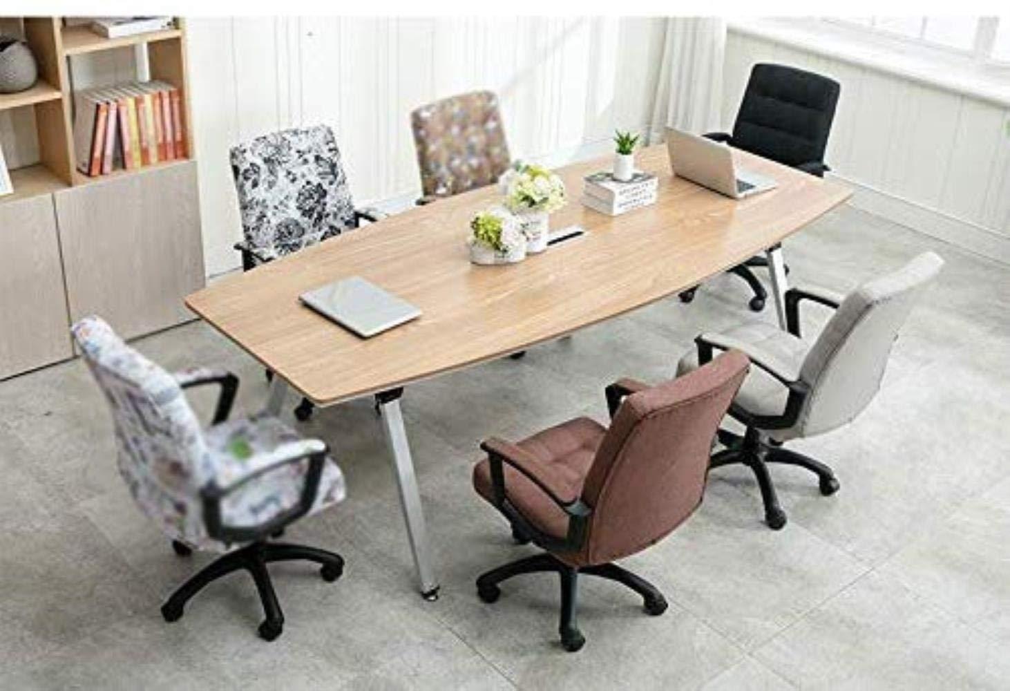 Skrivbordsstolar kontorsstol datorstol hem lyft svängbar stol komfort säte ryggstöd fritid sovsal lounge stol kontor (färg: Kaki) Brun