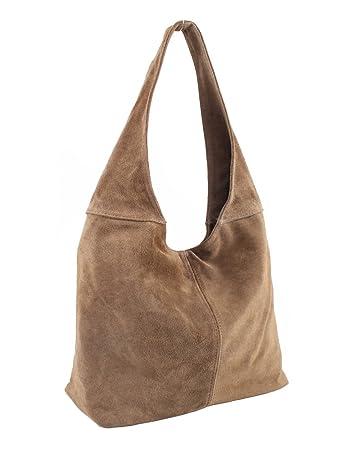 563182d298304 Beuteltasche Braun Ledertasche Wildleder Lederhandtasche Handtaschen  80OPknwX