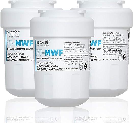 Fits GE MWF MWFP HWF GWF GWF01 GWF06 GWFA Kenmore 46-9991 Water Filter 1 Pack